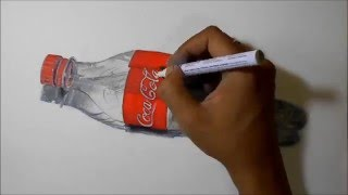 3D Art: Realistic Drawing | Empty Cola-Cola Plastic Bottle