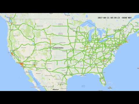 2017 Eclipse Traffic Map Time-lapse