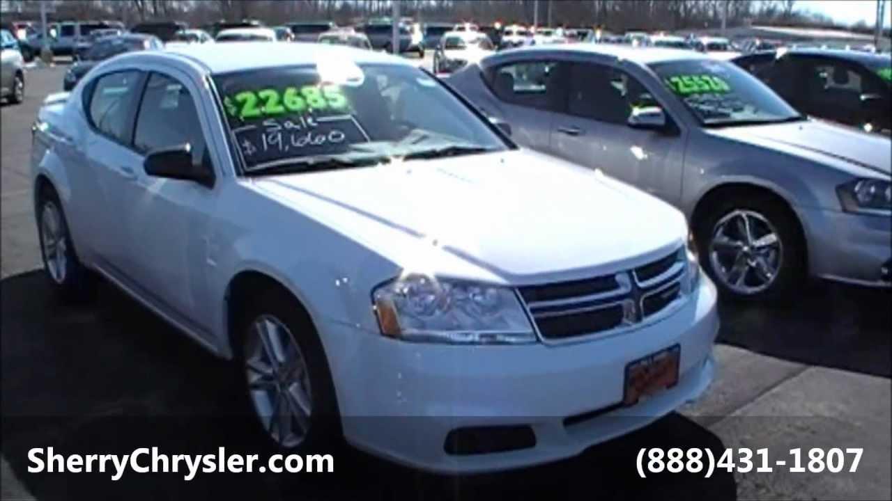 2013 dodge avenger se sedan white for sale dayton troy piqua sidney ohio 26549 youtube