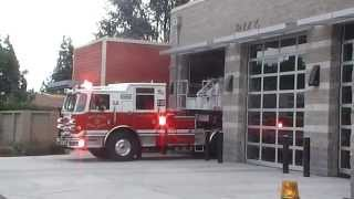 San Jose Fire Brand New Truck 35 Responding Code 3 to Traffic Collision