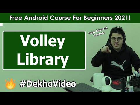 Adding Volley Library dependency & Fake JSON API | Android Tutorials in Hindi #18 thumbnail