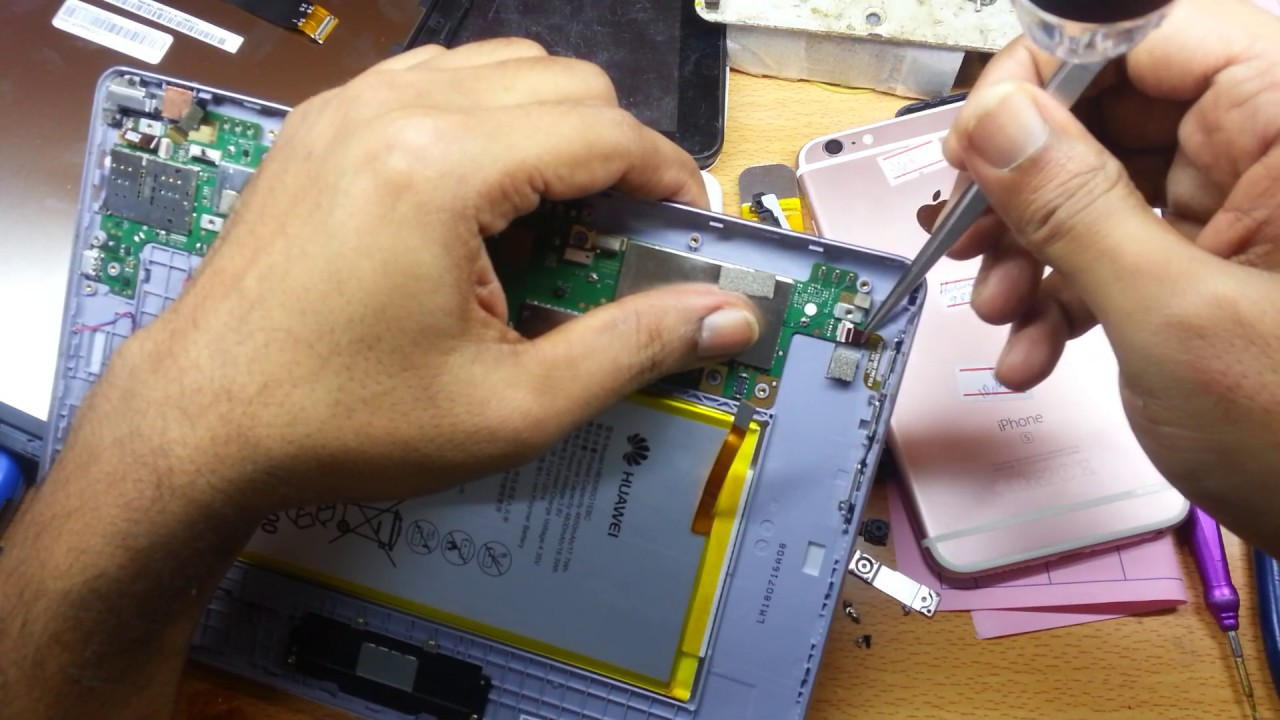How to Disassemble and Change USB Port Huawei MediaPad T3 AGS-L09