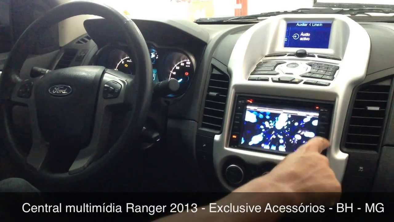 Central Multimidia Ford Ranger 2013 Exclusive Acessorios Bh