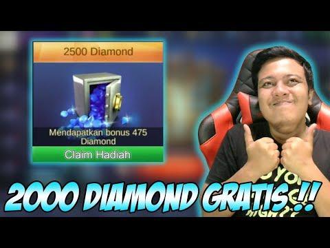 MANTAP !! 2000 DIAMOND MOBILE LEGENDS GRATIS TANPA HARUS TOP UP KALO IKUTAN EVENT INI