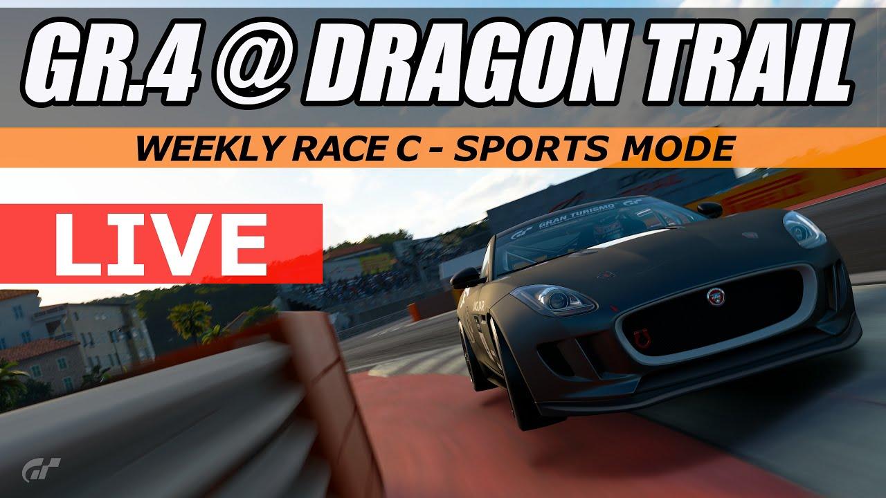 GT Sport - Weekly Race C - GR.4 @ Dragon Trail // LIVE