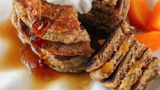 Peach Pie Protein Pancakes