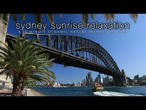 SYDNEY, AUSTRALIA in HD 15 Min Ambient Tour / Relaxation Film w/Music & Nature Sounds 1080p