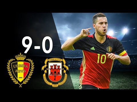 Belgium Vs Gibraltar 9-0 - Highlights & Goals - Qualfication World Cup 2018 31/08/17 - HD