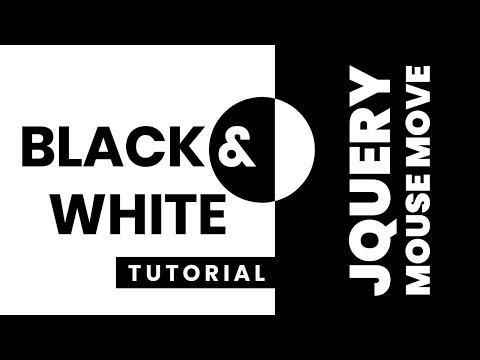 Black And White Text CSS Effects | JQuery Mousemove Event