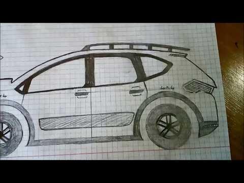 çok Kolay Harika Bir Araba Jiip çizimi005
