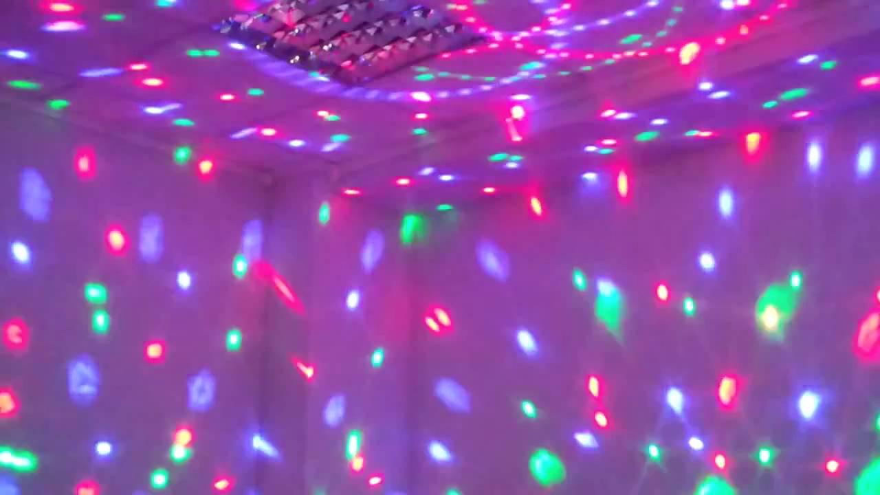 Светодиодный диско шар. Цветомузыка Сфера программируемая - YouTube