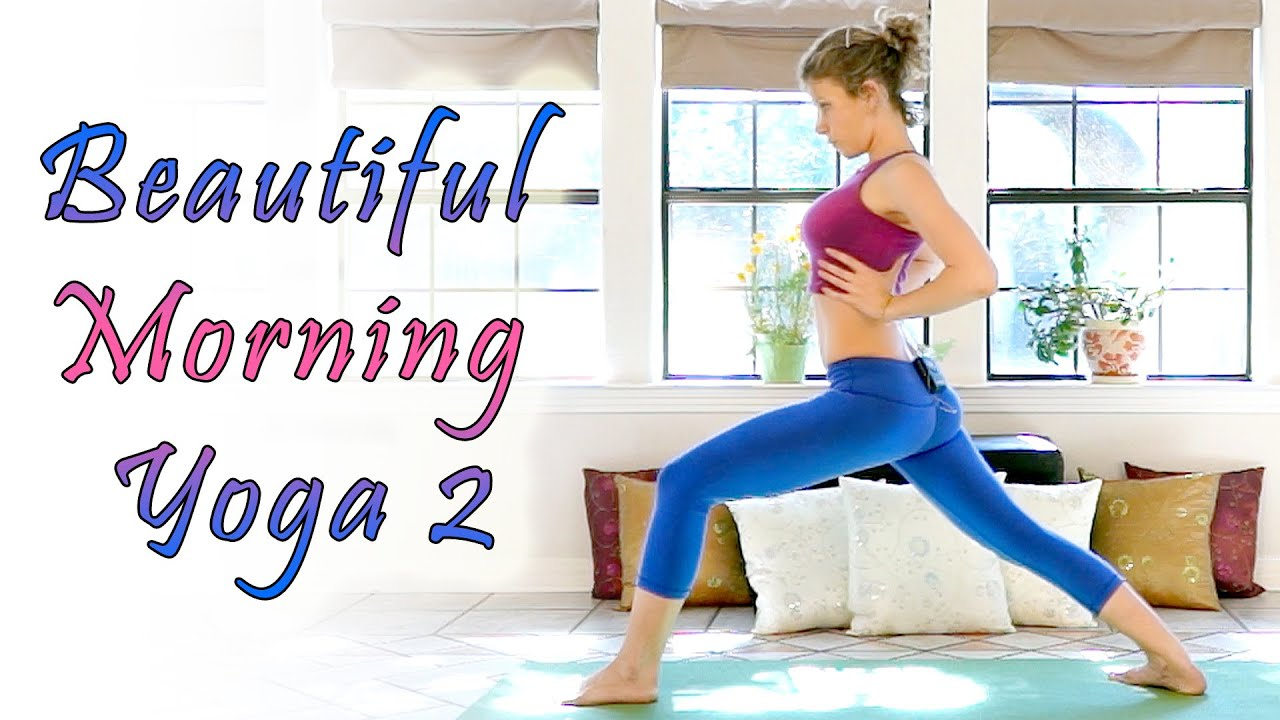 Beginners Morning Yoga For Energy - 20 Minute Workout Stretch & Flexibility  Routine