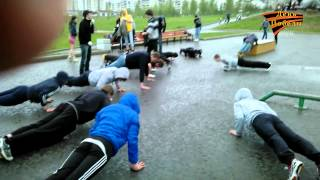 Рекорд Победы Кострома 24473 отжиманий [SWK](9 мая 2012 года в парке Победы (г.Кострома) мы провели мероприятие, на котором в сумме отжались 24473 раз, столько..., 2012-05-13T00:29:16.000Z)