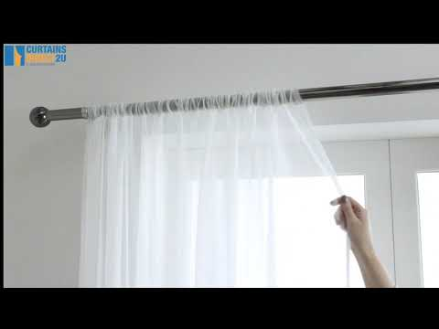 Lucy Slot Top Voile Curtain Panel