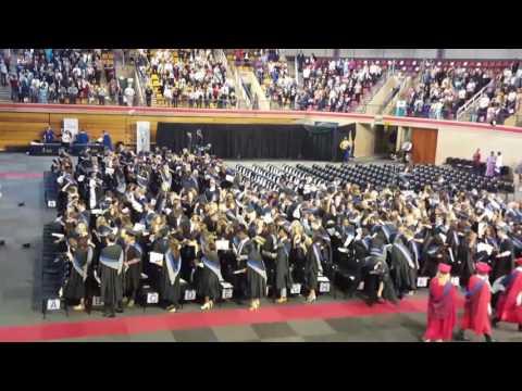 University of Pretoria graduation Hat throwing BCom April 2017