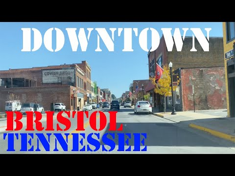 Bristol - Tennessee - Virginia - 4K Downtown Drive
