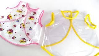 Como Fazer Babador de Plástico Tipo Vestido – Kit Higiene