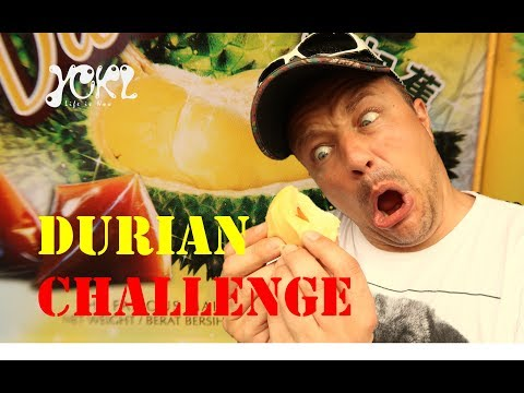 DURIAN CHALLENGE - Boyfriend tries stinky fruit for the first time