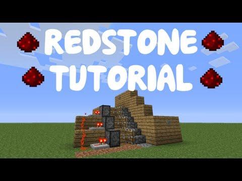 Minecraft 1.12: Redstone Tutorial - Piston Stairs Case w/ T Flip-Flop