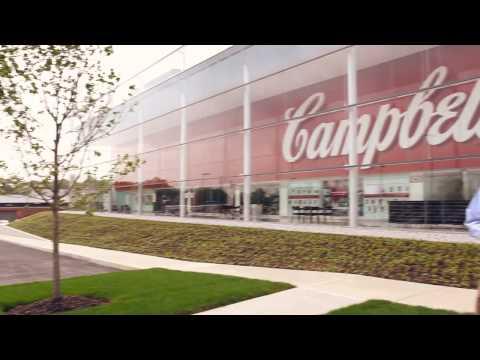 Campbell Soup new Employee HQ Bldg - walk-thru tour