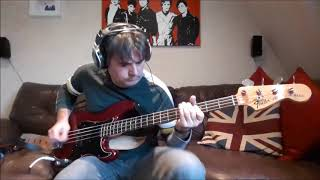 """Foo Fighters """"The Pretender"""" bass cover with tabs"""