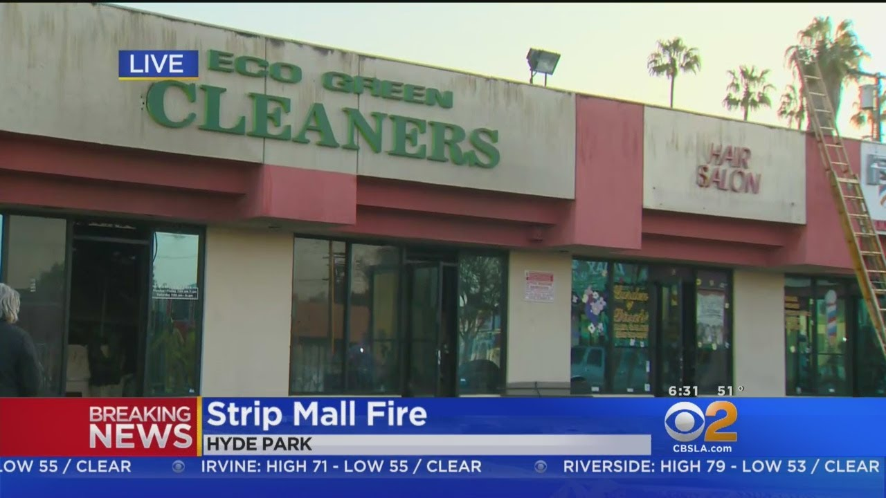 Fire Rips Through Businesses In Hyde Park Strip Mall Youtube