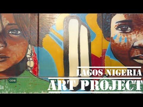Lagos Nigeria   AEFE AMAZING French school ART PROJECT    Education (4k ultra hd video)