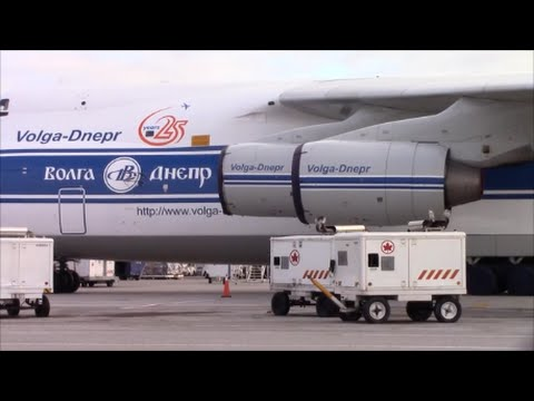 RARE: Volga-Dnepr Antonov An-124 Takes Off from Toronto...