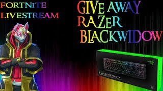 LIVE STREAM FORTNITE | GIVE AWAY RAZER BLACK WIDOW!!! -MAU MABAR?? JUST ADD A SIMPLE AJA