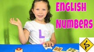 Learn English Numbers! Matching Puzzles with Sign Post Kids!