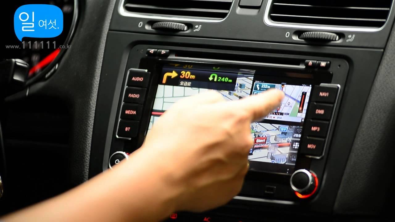 [일여섯] Volkswagen Golf 6G  Apple Wireless Mirror link and Navigtion A-Calss  Collaboration