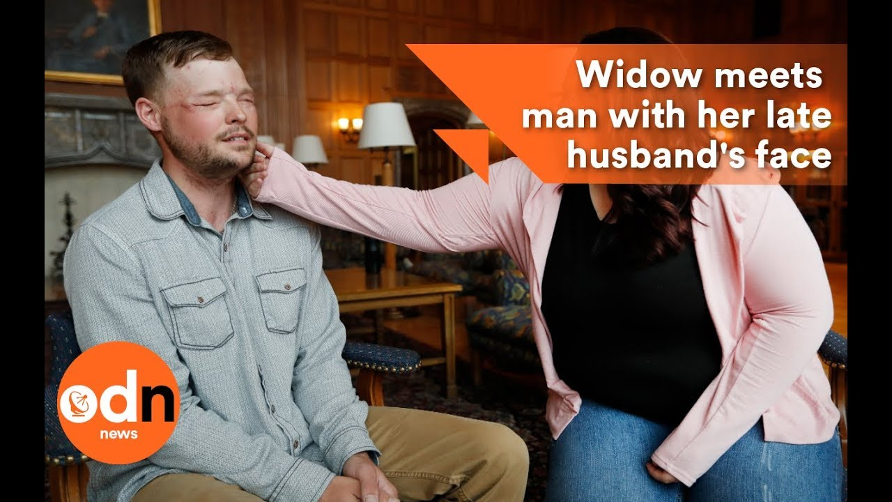 Widow sees husband's face on transplant recipient