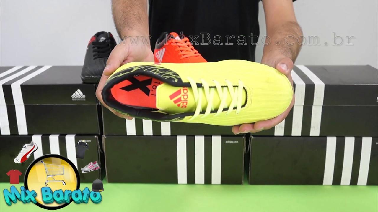 fab050a716 Mix Barato - Chuteira Adidas X 16.1 Futsal - YouTube