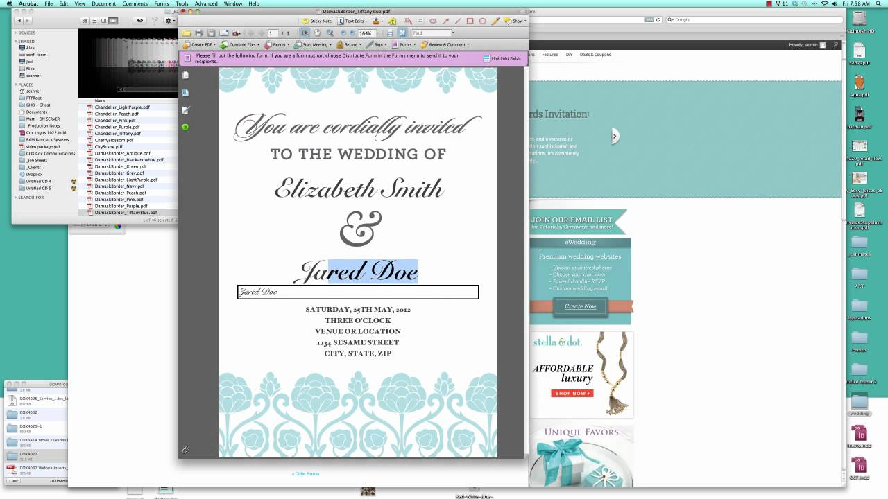 How To Make Your Own Wedding Invitation Free Template Tutorial