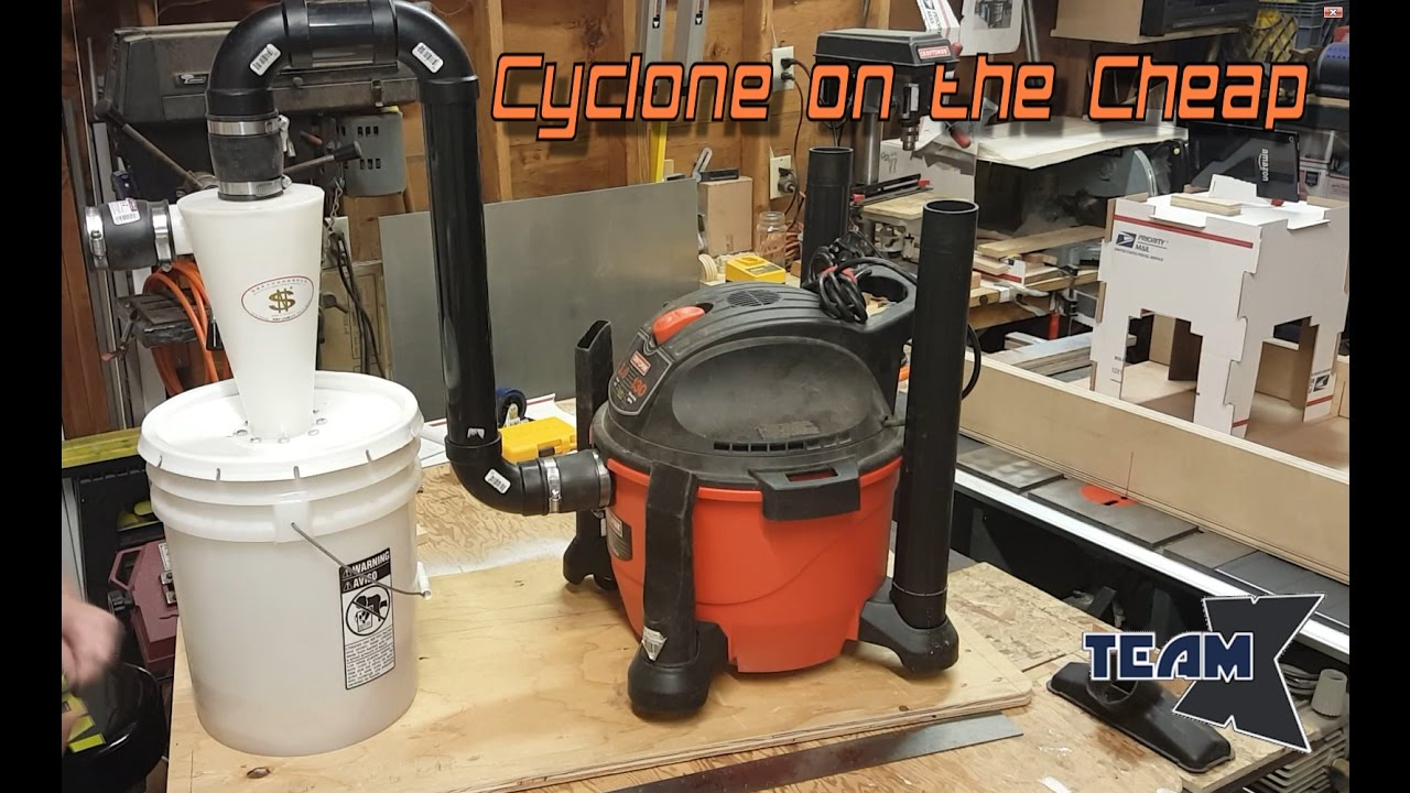 Cyclone Dust Collection - on the cheap