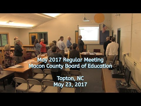 Macon Co Board of Education - May 2017