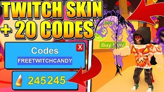 HOW TO GET THE TWITCH SKIN + 20 CODES IN ROBLOX MINING SIMULATOR!