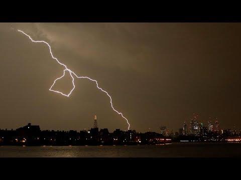 Lightning strikes southern england
