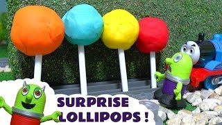 Funny Funlings Play Doh Lollipops Surprise with Lightning McQueen and Thomas and Friends