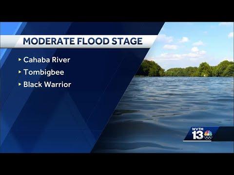 Alabama Rivers Rising Amid Heavy Rain