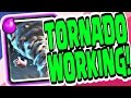 TORNADO WORKING! - Clash Royale