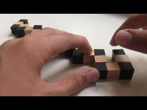 Как собрать кубик из деревянных деталей