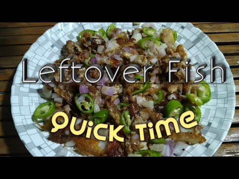 Leftover Fish Recipe | How To Cook Leftover Fish | Instant Bangus Sisig