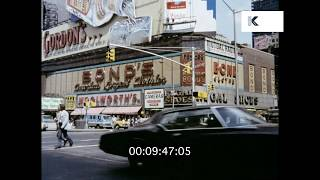 1973 New York City Streets, Summer 1970s, HD from 35mm