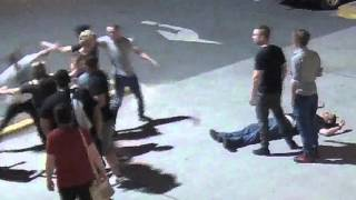 Footage of 'coward punch' assault in Tuggeranong, 12 December 2015