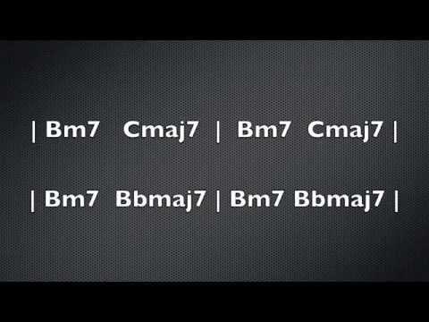 Fusion Jam Track - Minor 7 to Maj 7 - Smooth Groove - Modal Progression - Ionian Lydian Dorian