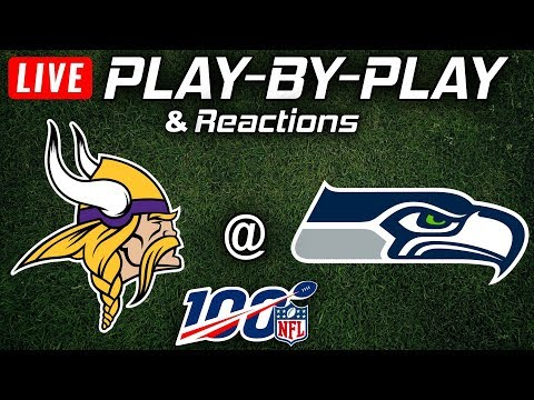 Vikings Vs Seahawks    Live Play-By-Play & Reactions