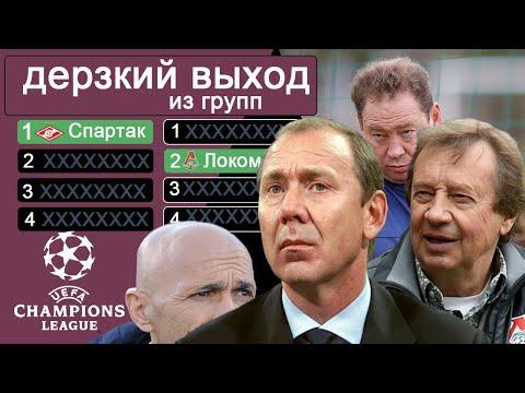 Сколько российских клубов выходило из групп Лига Чемпионов? Зенит – рекордсмен, Спартак – первый.