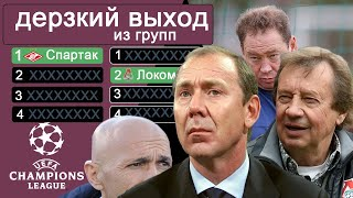 Сколько раз клубы России выходили из групп Лига Чемпионов? Зенит – рекордсмен, Спартак – первый.