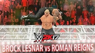 WWE 2K17 Brock Lesnar vs Roman Reigns | Hell In A Cell Match | PS4 Gameplay